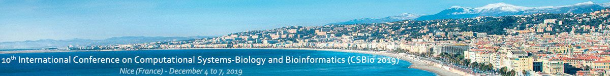 International Conference on Computational Systems-Biology and Bioinformatics (CSBio 2019)