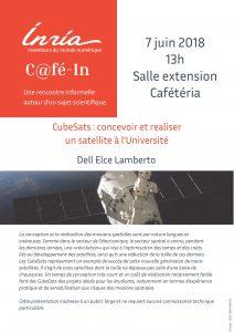 Affiche du Café-In de Lamberto Dell'ECE