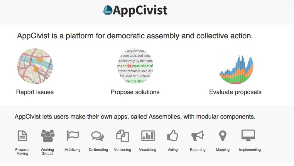 AppCivist Screenshot